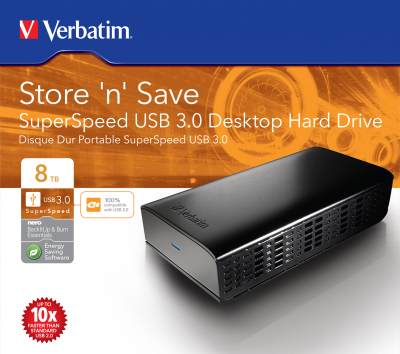 Disco duro de sobremesa SuperSpeed USB 3.0 de 3 TB Store 'n' Save